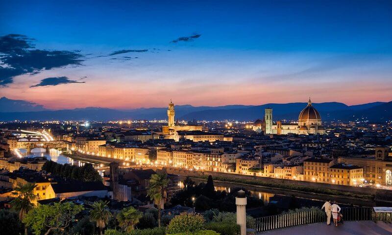 Vista da cidade de Florença na Itália