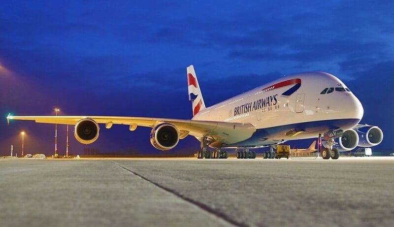 Avião da companhia aérea British Airways