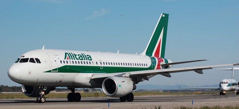 Avião da companhia aérea Alitalia