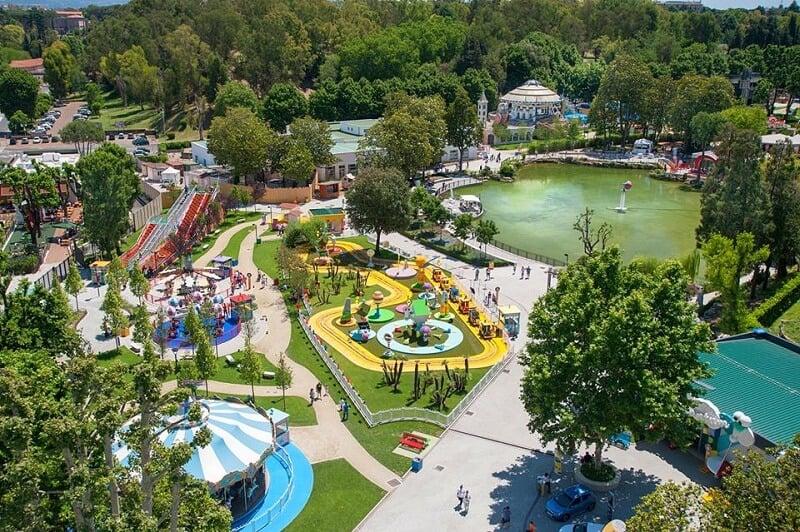 Vista área do Luneu Park em Roma