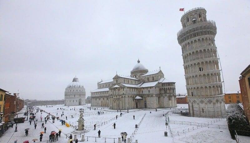 Cidade de Pisa no inverno