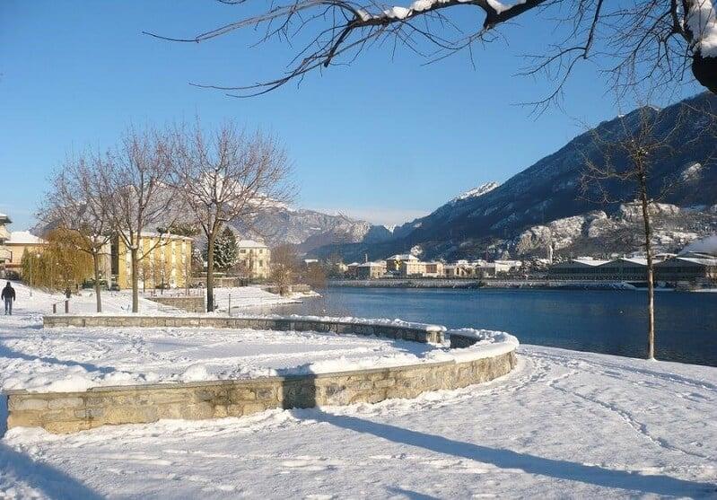 Província de Lecco durante o inverno