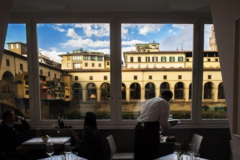Vista do Golden View em Florença na Itália