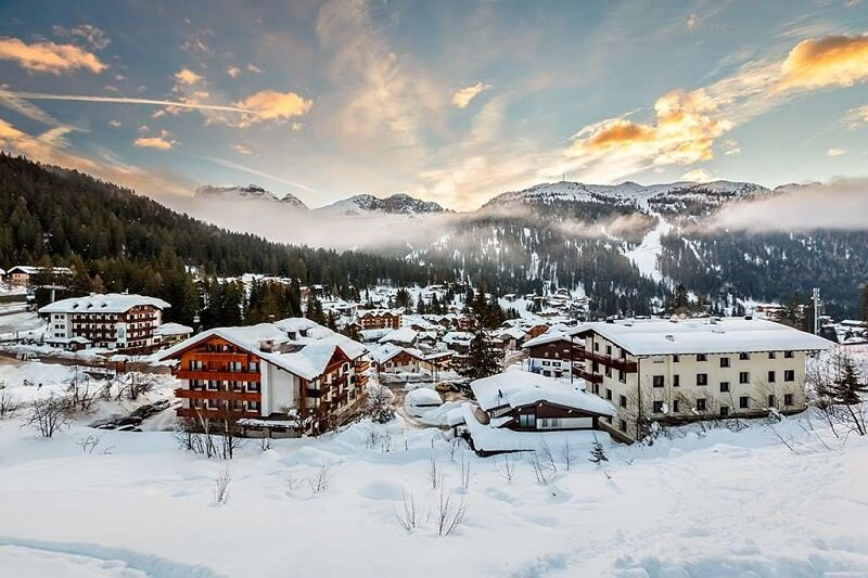 Estação de esqui Madonna di Campiglio na Itália