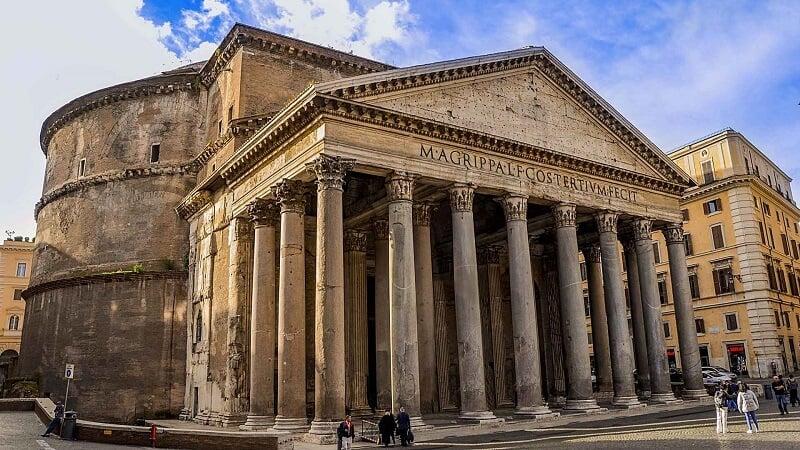 Panteão de Roma na Itália