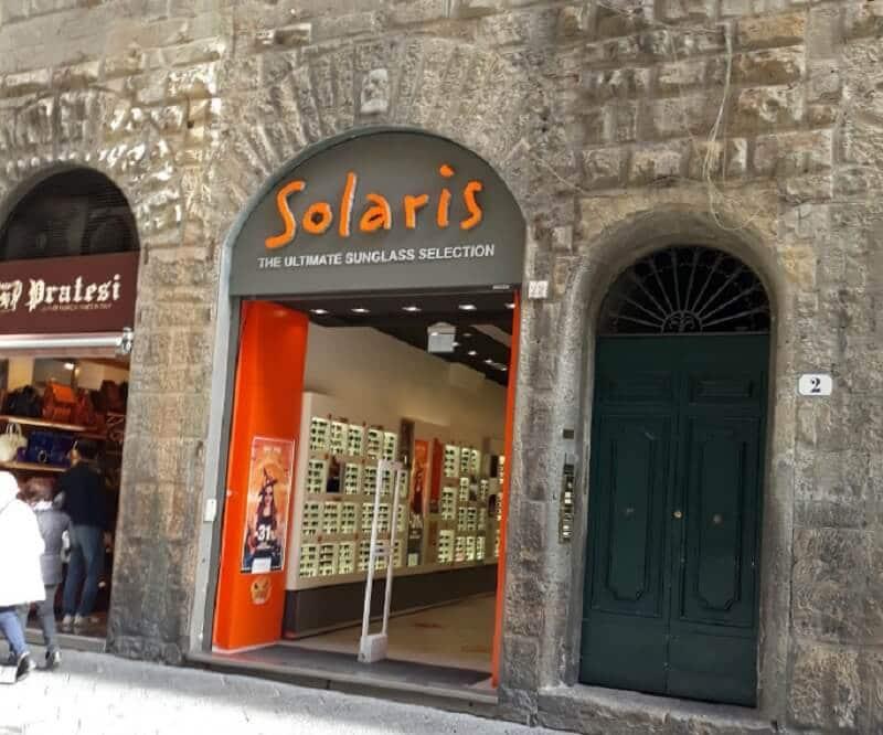Loja Solaris na Itália