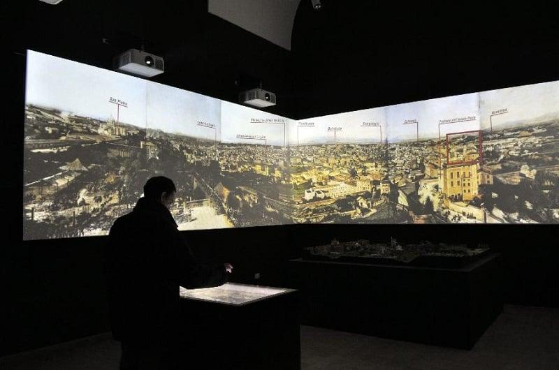 Interior do Museu da República Romana e as Memórias de Garibaldi