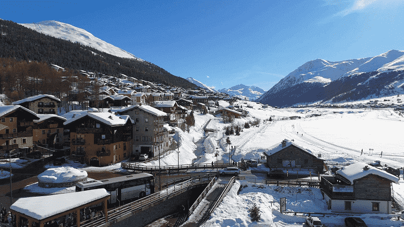 Alpes italianos no inverno