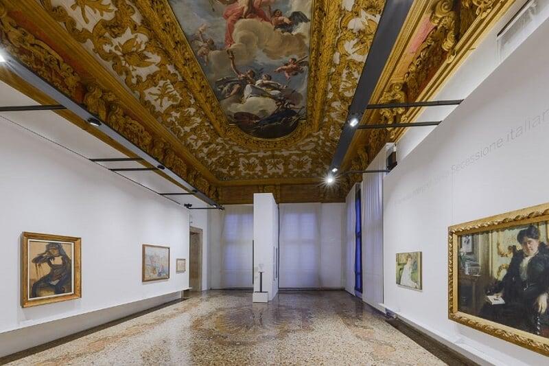 Interior do Palácio Ca' Pesaro