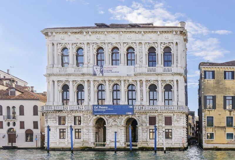 Fachada da Galeria Internacional de Arte Moderna de Veneza
