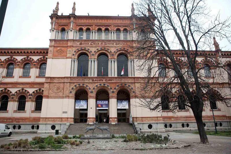 Fachada do Museu Cívico de História Natural de Milão
