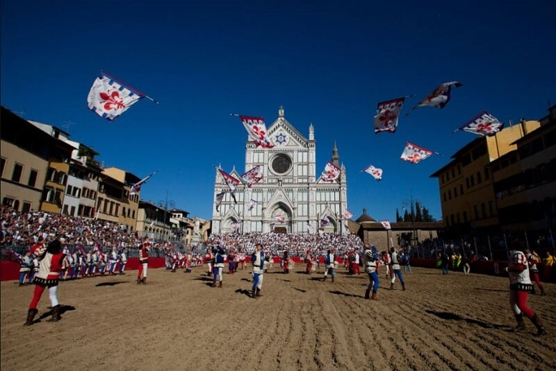 Calcio storico na Piazza Santa Croce