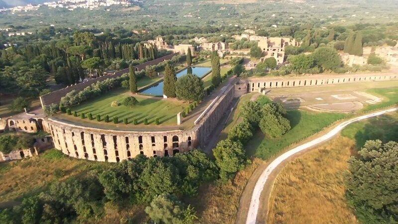Villa Adriana vista de cima